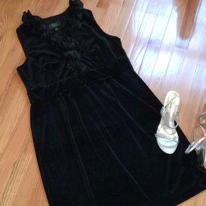 Velvet Black Dress By Dress Barn